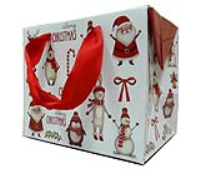 FLAT TOP GIFT BAGS (pack of 10) - small CHRISTMAS CHARACTERS