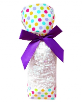 CANDY BAGS (pk 10) with Block Bottom and Twist Ties - SPOTS (small)