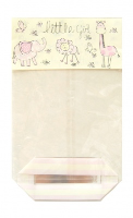 CANDY BAGS (pk 10) with Block Bottom and Twist Ties - LITTLE GIRL (large)