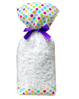 CANDY BAGS (pk 10) with Block Bottom and Twist Ties - SPOTS (large)