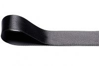 Double Faced Satin Ribbon 15mm x 25m - BLACK