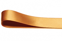 Double Faced Satin Ribbon 15mm x 25m - OLD GOLD