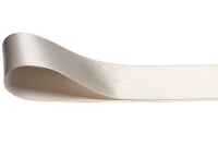 Double Faced Satin Ribbon 15mm x 25m - IVORY