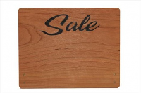 Large Cherry Wood Point of Sale Sign 250mm x 200mm - SALE