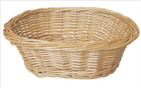 Oval Wicker Basket (small) - 20x16x7cm (Natural)