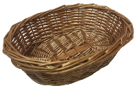 Oval Wicker Basket (large) - 26x20x8cm (natural)