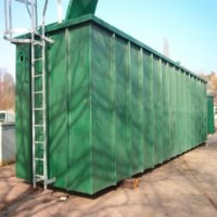 Large GRP Tank from our Excell Range with Ladder & Safety Cage incorporated