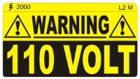 L002 M - 110v Warning (Medium) x 100