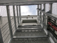 Galvanised External Goods Lift