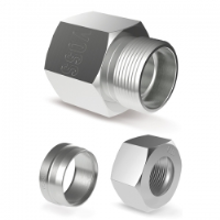 F/Male Stud Coupling-Metric to Tube-L/S Series
