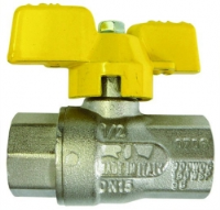 T Handle Ball Valve Gas Approved F/F