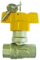 T Handle Ball Valve With Lock Gas Approved F/F