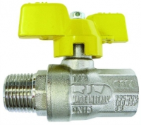 T Handle Ball Valve Gas Approved M/F