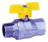T Handle Ball Valve WRAS/Gas Approved M/F