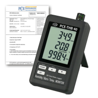 Multifunction Data Logger w/ ISO Calibration Certificate PCE-THB40-ICA
