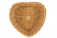 HEART Basket (SMALL) - with NATURAL Wicker 20cm x 18cm