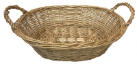 Oval Wicker Basket with Handles - 30x20x9cm (Natural) - SET OF 10