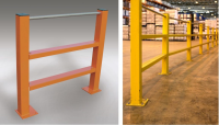 Twin Channel Barriers With Pedestrian Handrail