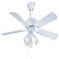 """Global 42"""" Genoa Gloss White Ceiling Fan With 3 Lights"""