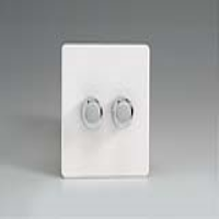 Varilight HDQ77S 2 Gang Low Load 2-Way Push-On Push-Off Dimmer