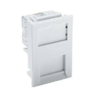 Excel 100-297 Category 6 Unscreened 6c Low Profile RJ45 Module In White