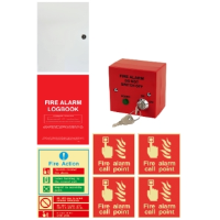 Fire Alarm Accessory Kit With Log Book, Document Enclosure, Fire Action Sign, Call Point Signs And Keyswitch Isolator