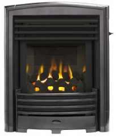 Valor 0596351 Petrus Slimline Homeflame Gas Fire In A Black Chrome Finish