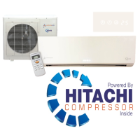 Easy Fit KFR-53IW/X1CM 18000 BTU White Gloss Inverter System Heat And Cool Air Conditioning Unit Powered By An Hitachi Compressor