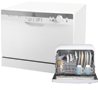 Indesit ICD661 6 Place Counter Top Dishwasher In White