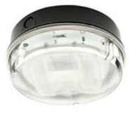 IP65 28w 2D High Frequency Round Polycarbonate Bulkhead Light In Black/Prismatic