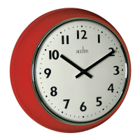 Acctim 27054 Delia Wall Clock In Red