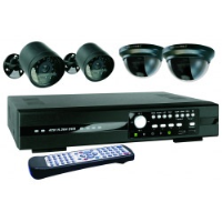 Byron DVR534S 4 Camera Quad CCTV Kit With 500GB Harddrive
