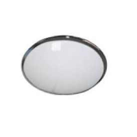 IP20 Decorative Round High Frequency 38w 2D Bulkhead Light In Chrome/Opal