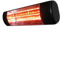 Victory Lighting HLW15BG 1500W Infrared Halogen Quartz Heater In Black With Gold Lamp