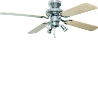 """Global 42"""" Bali Stainless Steel Ceiling Fan With 3 Lights And Reversible Beech/Maple Blades"""