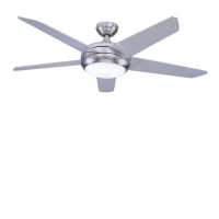"""Global 52"""" Stainless Steel Neptune Ceiling Fan With Halogen Light And Remote Control"""