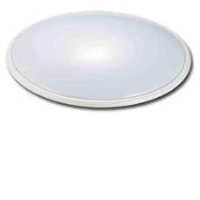 Decorative 28w 2D Emergency Wall Bulkhead Light Or Ceiling Light In White/Opal