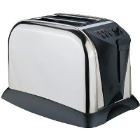 Sabichi 57495 2 Slice Stainless Steel Toaster With Removable Crumb Tray