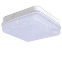 White/Opal IP65 High Frequency Square Polycarbonate 28w 2D Bulkhead Light