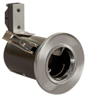 Satin Chrome Die-Cast GU10 Fixed Fire Rated Downlighter