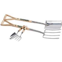 Draper 89902 Stainless Steel Fork And Spade Set With Hand Trowel And Fork Set