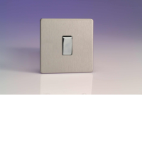 Varilight 1 Gang 10A 1 Or 2 Way Rocker Switch In Brushed Steel XDS1S
