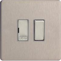 Varilight 13A Switched Fused Spur In Brushed Steel XDS6DS