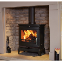 Flavel Rochester 7 Multifuel Wood Burning Stove FCSSBB