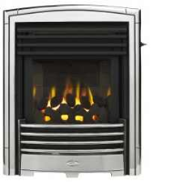 Valor 0596341 Petrus Slimline Homeflame Gas Fire In Silver Chrome