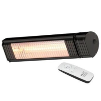 Heat Outdoors 901538 1.5kW Shadow XT Bluetooth Controlled Ultra Low Glare Patio Heater In Black