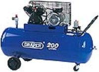 77002 200L 230V V-Twin Belt-Driven Air Compressor