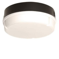 IP65 28w 2D High Frequency Round Polycarbonate Bulkhead Light In Black/Opal