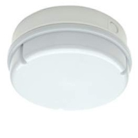 IP65 28w 2D High Frequency Round Polycarbonate Bulkhead Light In White/Opal