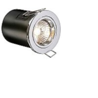 Polished Chrome Low Voltage Fixed Fire Rated Downlighter